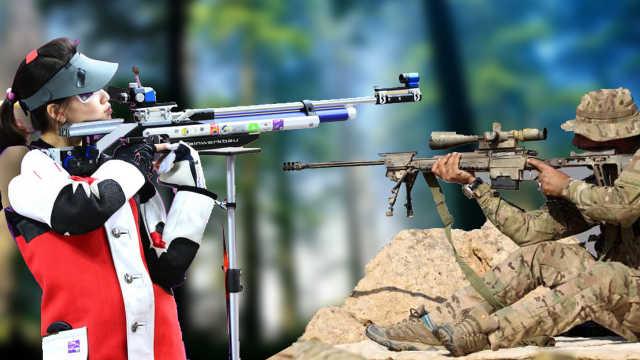 奥运冠军和狙击手比赛,到底谁赢?
