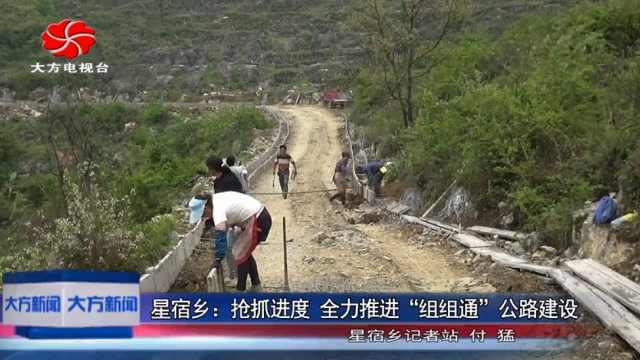 """大方县星宿乡""""组组通""""公路建设"""