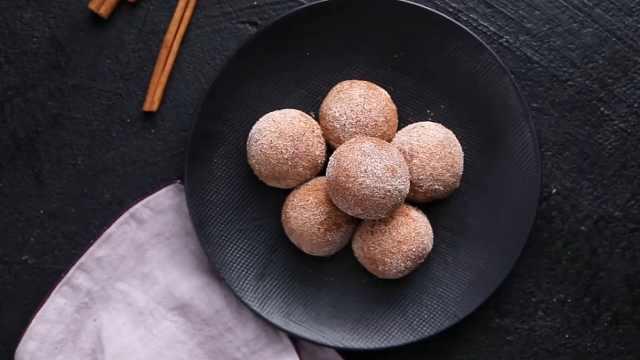 大米做的甜品美食,大米布丁甜甜球