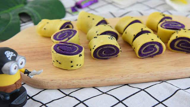 紫薯鸡蛋卷——好吃又营养