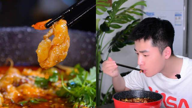 黑玉沸腾虾,虾肉紧实Q弹很好吃