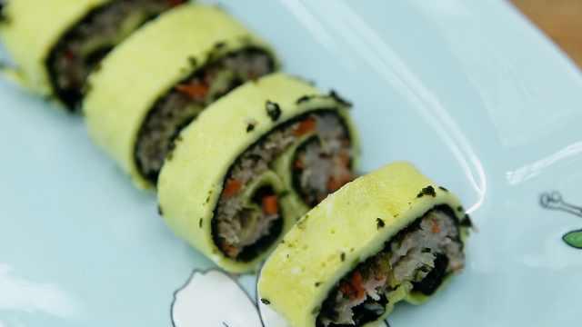 超级美味的蛋卷寿司,快来学吧!