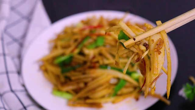 零基础学做家常菜——油焖笋丝