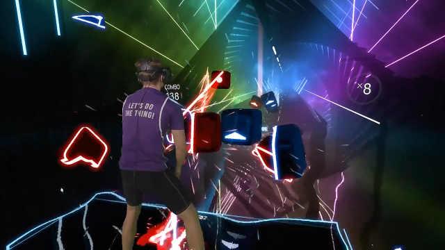 VR音游,副歌部分又燃又帅!