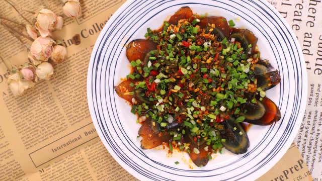 剁椒皮蛋,简单美味,超级开胃