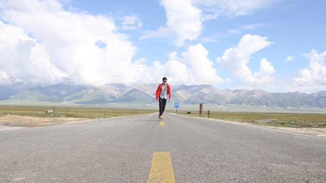 中国版白日梦想家,带滑板穿越新疆