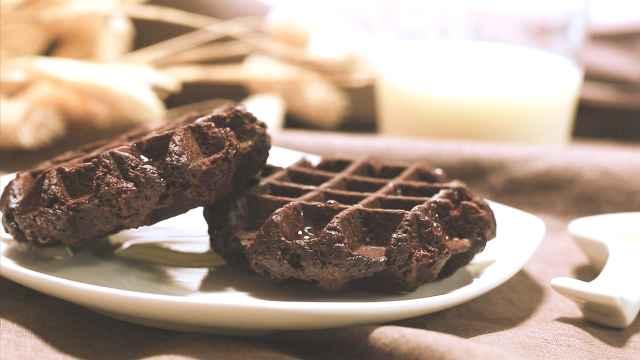 网红美食松脆华夫饼,两步搞定