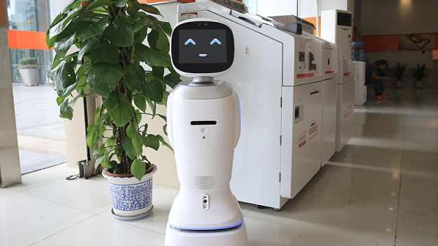 会唱歌卖萌!一银行现智能机器人