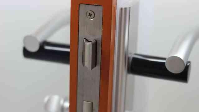 门这样反锁有钥匙也打不开,特安全