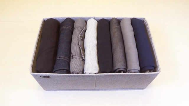 裤子的正确叠法