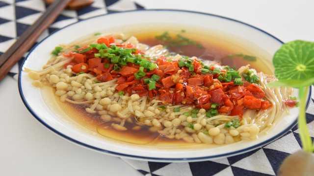 鲜辣开胃的剁椒金针菇