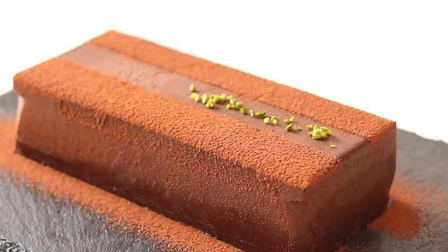 自制香浓巧克力口感的慕斯甜点