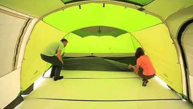 老外设计这帐篷,两室一厅住4口人