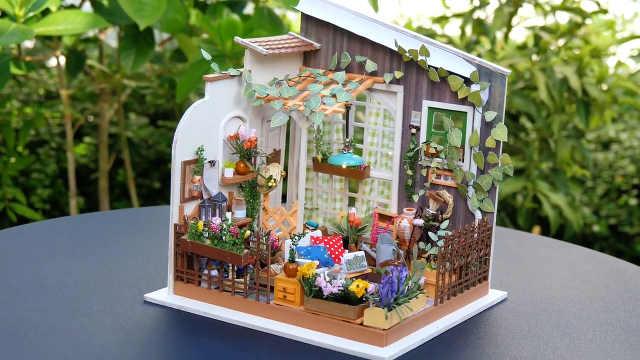 DIY迷你娃娃屋,向往的阳光小花园
