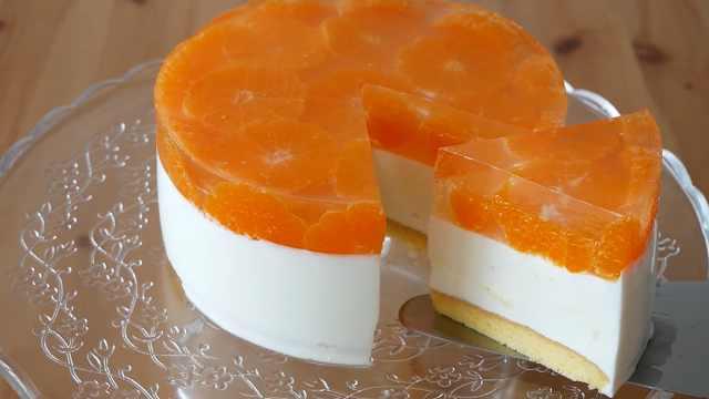 自制酸甜美味的橘子酸奶慕斯蛋糕