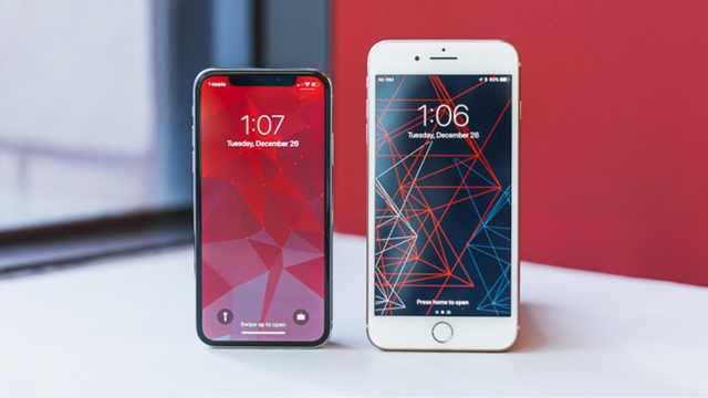 三款不同尺寸大小的iPhone手机
