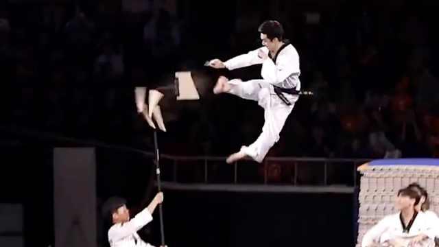 这样的高难度跆拳道动作你见过吗?