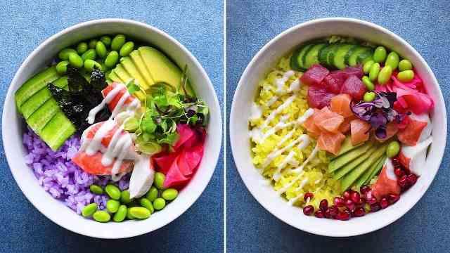 健康又减脂!教你做几款美味寿司碗