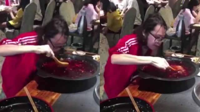 端火锅盆喝汤,真实版
