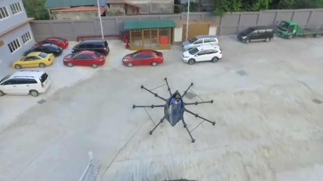 菲律宾发明家造出一台飞行汽车