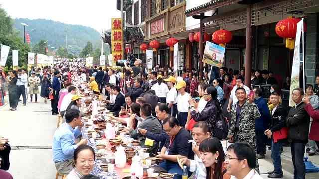 农民丰收节,农民和嘉宾共享千人宴