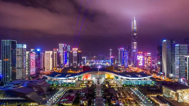 深圳这场灯光秀,太惊艳了