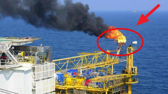 石油钻井平台上的火炬,干嘛用的?