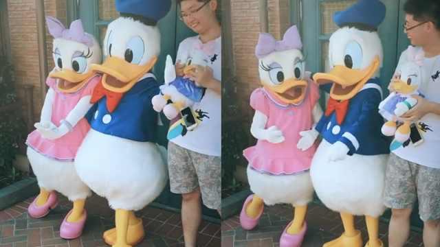 唐老鸭遇见情敌,醋意护妻太可爱鸭