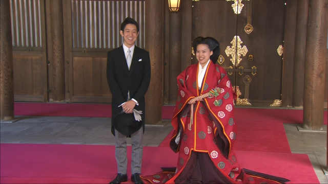 日本公主放弃皇族身份与平民成婚