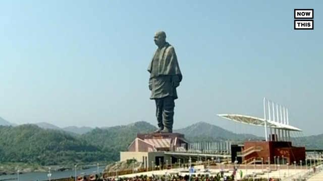 世界最高雕像在印度揭幕