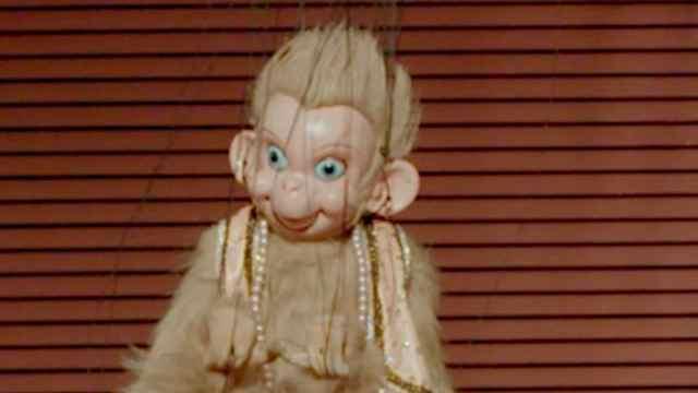 活捉一只活灵活现的提线木偶小猴子