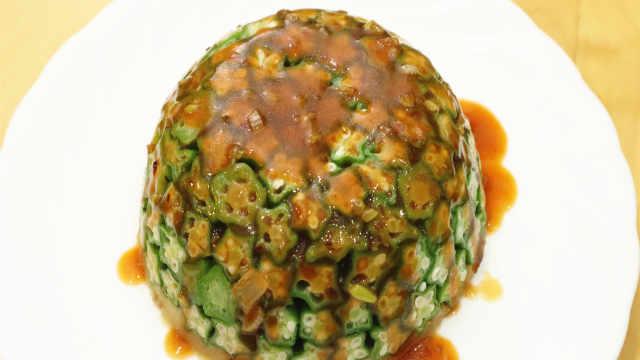 秋葵加土豆,教你独特的做法,好吃