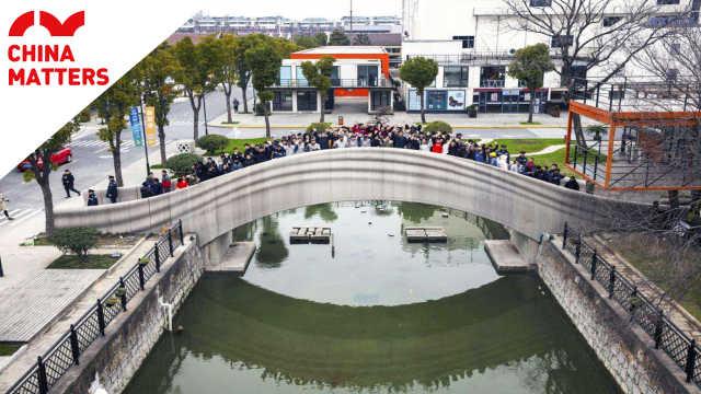 世界最大规模3D打印大桥在上海落成