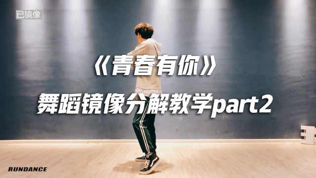 《青春有你》舞蹈镜像分解教学p2