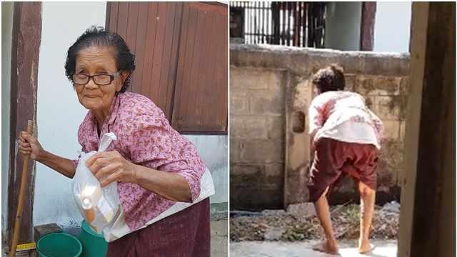 硬核老奶奶!84岁泰国奶奶利落翻墙