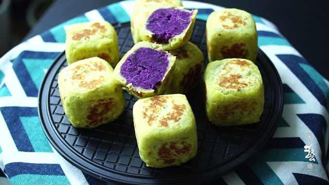 地瓜紫薯糕,营养健康又美味