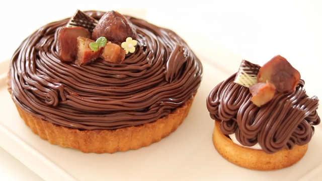 香浓迷人的巧克力勃朗峰蛋挞