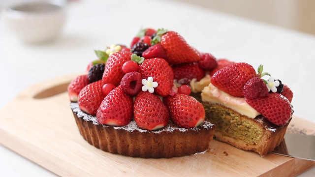 甜美系列草莓蛋挞,迷人的甜点