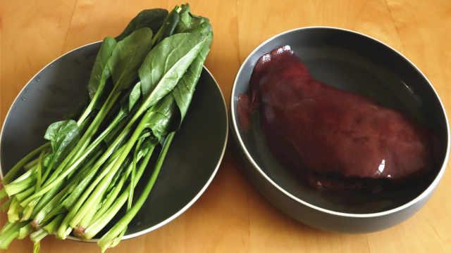 菠菜和猪肝这样做太香了,排毒养颜