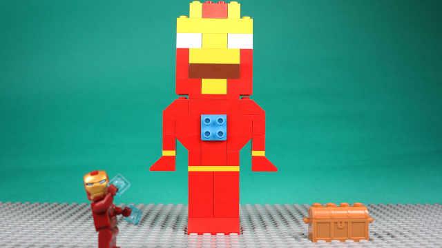 乐高玩具钢铁侠拼装超大钢铁侠模型