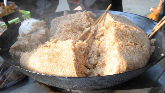 隔屏馋!老贵阳糯米饭,粒粒有猪油香